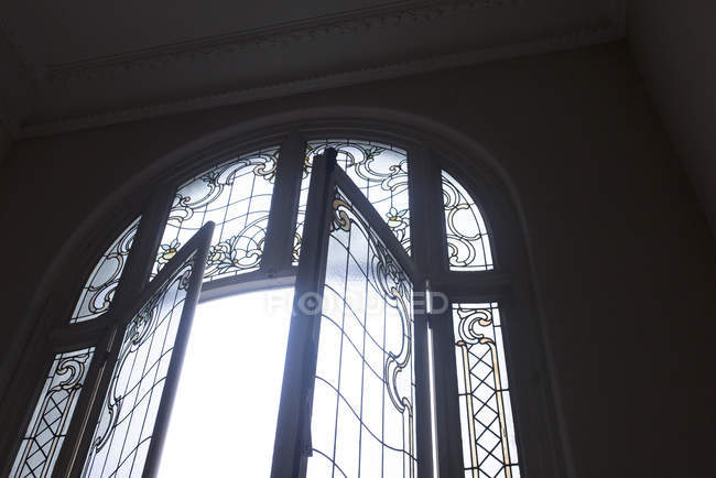 Leaded french windows — Stock Photo