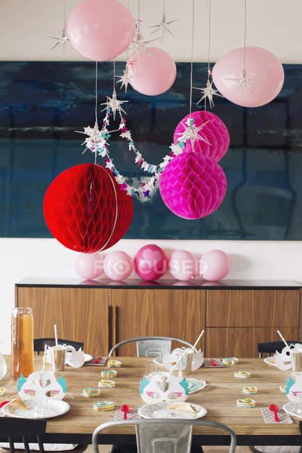 Birthday party decorations — Stock Photo