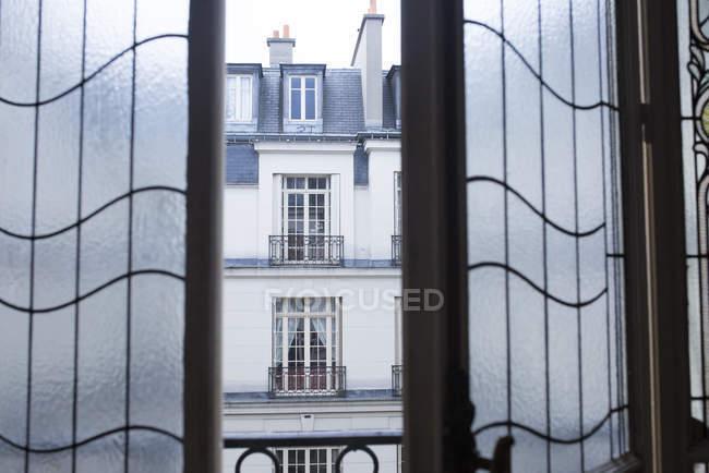 Ventanas francesas con plomo - foto de stock