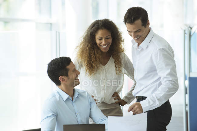 Business colleagues celebrating success — Stock Photo