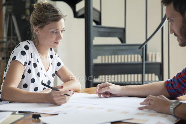 Architects Collaborating on design project — Stock Photo
