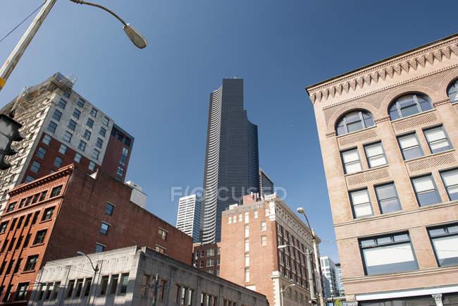Columbia Center and neighboring buildings, Seattle, Washington, USA — Stock Photo
