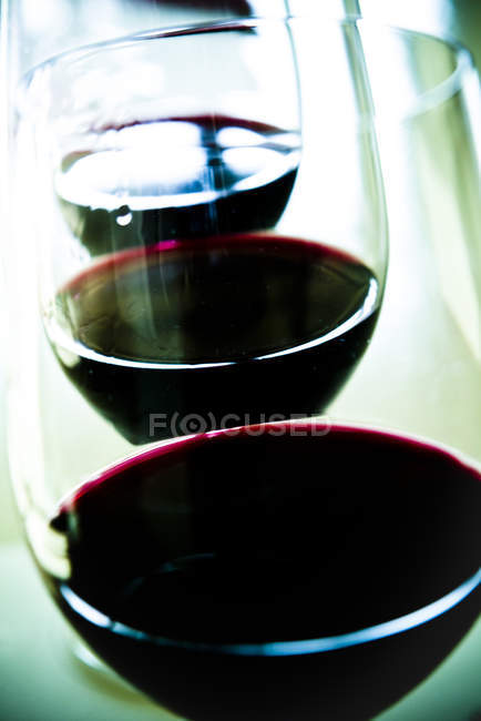 Close up of Glasses of red wine — Stock Photo