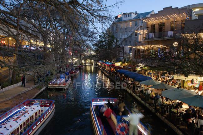 Der San Antonio River Walk in San Antonio, Texas, Usa — Stockfoto