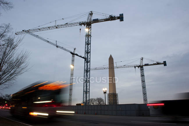 USA, Washington DC, Washington Monument under renovation — Stock Photo