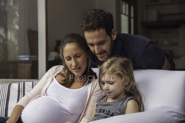 Family spending time together at home — Stock Photo