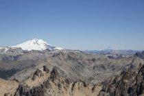 A neve dos Andes tampado vulcão — Fotografia de Stock