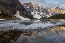 Cold lake in mountains — Stock Photo