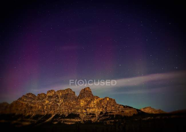 Mountains and starry sky — Stock Photo