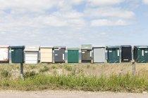 Почтовые ящики на поляков в сельской местности — стоковое фото