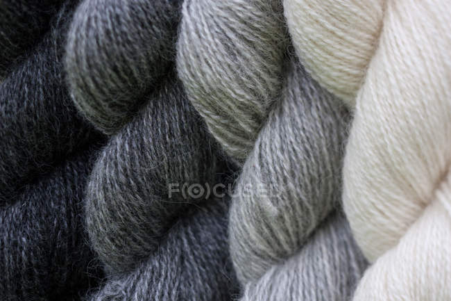 Braided wool yarn — Stock Photo
