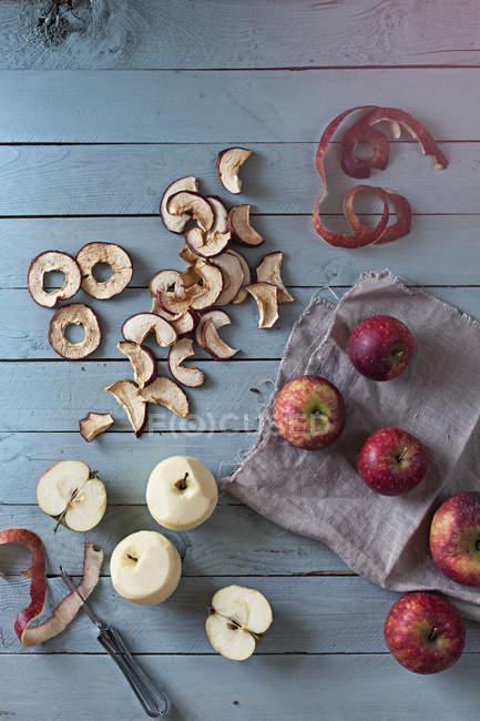 Mele fresche e secche — Foto stock
