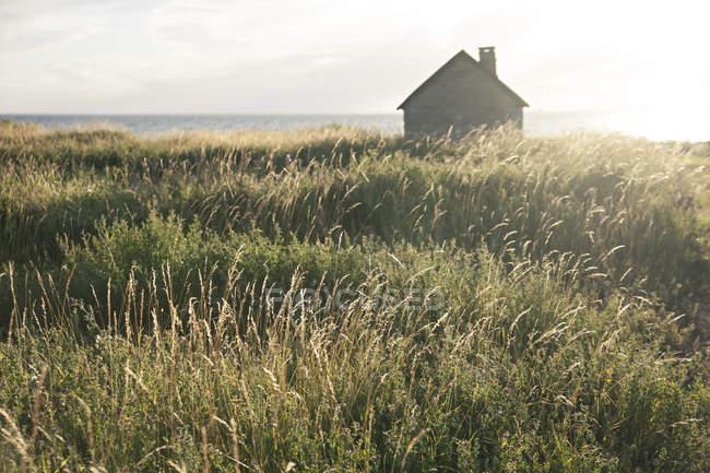 Piccola casa al mare — Foto stock