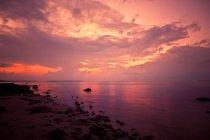 Coucher de soleil sur l'océan, Floride — Photo de stock