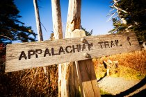 Appalachian Trail Holzschild — Stockfoto