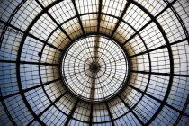Glass cupola at Galleria Vittorio Emanuele — Photo de stock