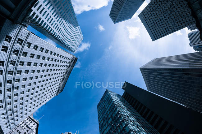 Immeubles de bureaux à quartier financier — Photo de stock