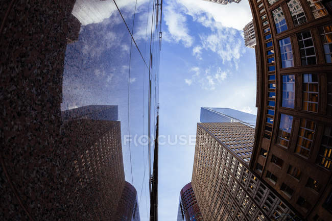 Office buildings at financial district — Stock Photo