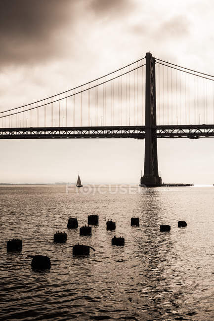 Bay Bridge, San Francisco Bay — Stock Photo