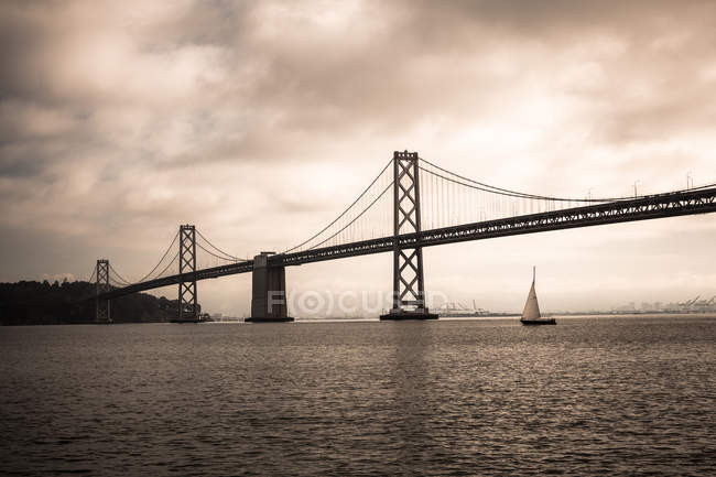 Bay Bridge, baie de San Francisco — Photo de stock