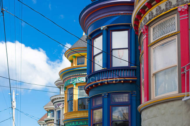Famous residential houses — Stock Photo