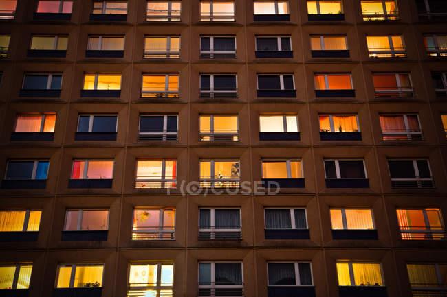 Apartment building facade — Stock Photo