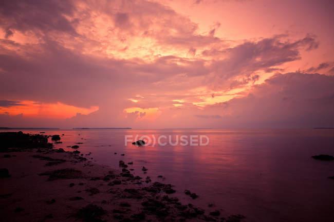 Pôr do sol sobre o oceano, Flórida — Fotografia de Stock
