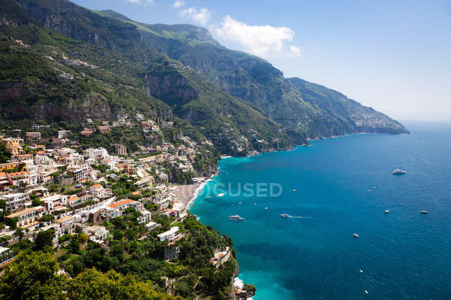 Rocky coastline, Positano — Stock Photo