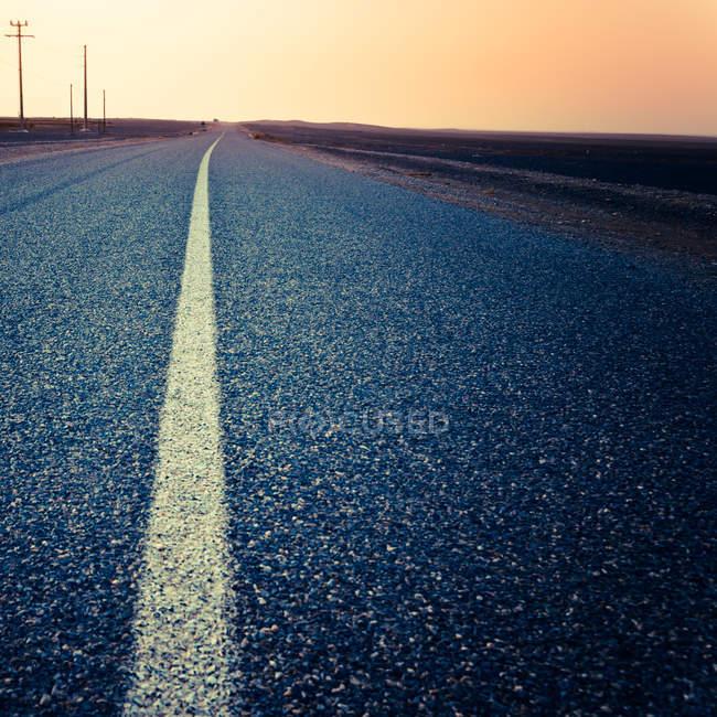 Desert road, Morocco — Stock Photo