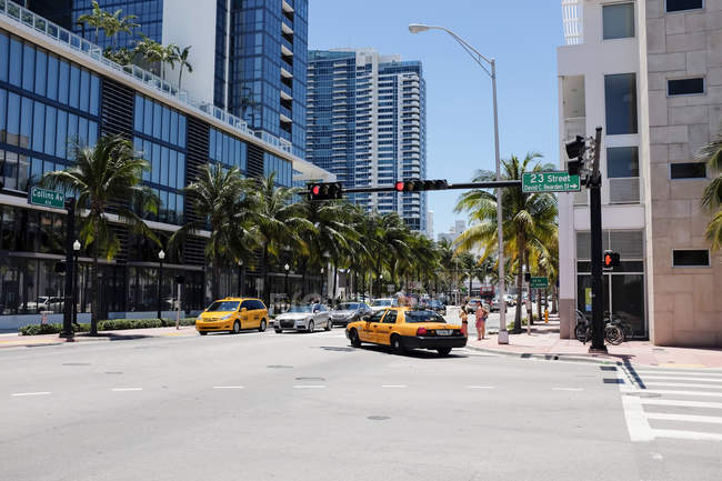 Collins Avenue a Miami — Foto stock