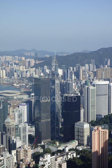 Paisagem urbana de Hong kong — Fotografia de Stock