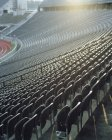 Perspective view of rows of stadium seating — Stock Photo