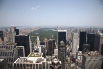 Vista aerea sopra skyline di Manhattan e Central Park, New York, Stati Uniti — Foto stock