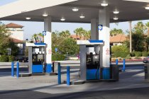Fuel pumps at empty  gas station — Stock Photo