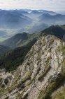 Vista de las montañas de la Cumbre de Wendelstein, Baviera, Alemania - foto de stock