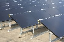 Side view of rows of solar modules — Stock Photo