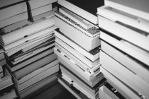 Close up view of stacked books on table — Stock Photo