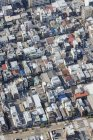 Aerial view of residential district houses and rooftops — Stock Photo