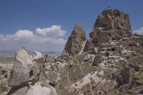 Vista panoramica di formazioni rocciose contro cielo blu — Foto stock
