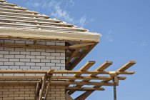 Wooden roof under construction — Stock Photo
