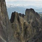 Vista aérea de formações rochosas de Black Tusk — Fotografia de Stock