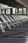 Crop row of sun lounges on cruise ship — Stock Photo