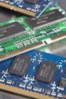 Close up view of three circuit boards — Stock Photo