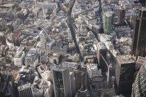 Plein cadre antenne vue des bâtiments de la ville — Photo de stock