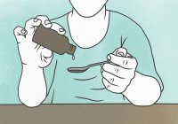 Illustrazione della persona che versa la medicina sul cucchiaio — Foto stock