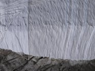 Directly above view of tarpaulin covering rock formation, Gletsch Wallis, Switzerland — Stock Photo
