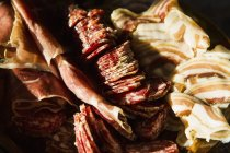Close up view of slices various meat — Stock Photo