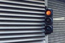 Road signal at car park — Stock Photo