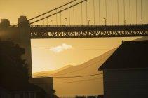 Crop Golden Gate Bridge in sunset light — Stock Photo