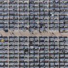 Vista aérea de marco completo del municipio - foto de stock
